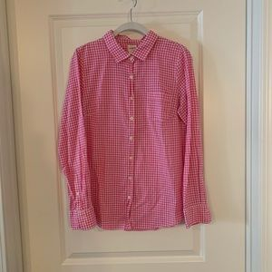 Pink Gingham Perfect Shirt from J. Crew Factory